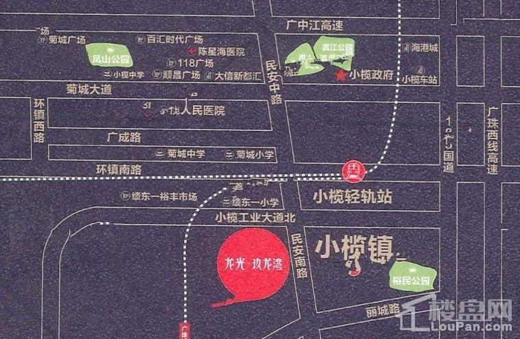 龙光玖龙湾位置图