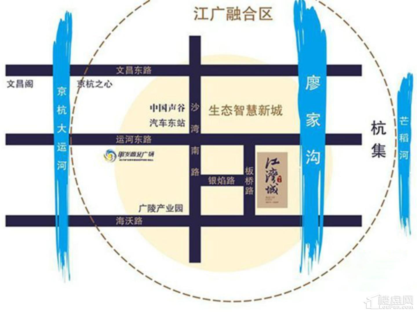 明发江湾城位置图