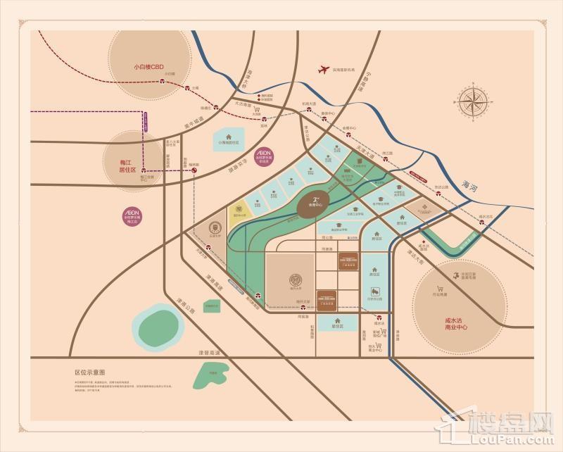 仁恒海和院·南苑位置图