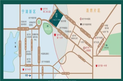 中梁博翠位置图