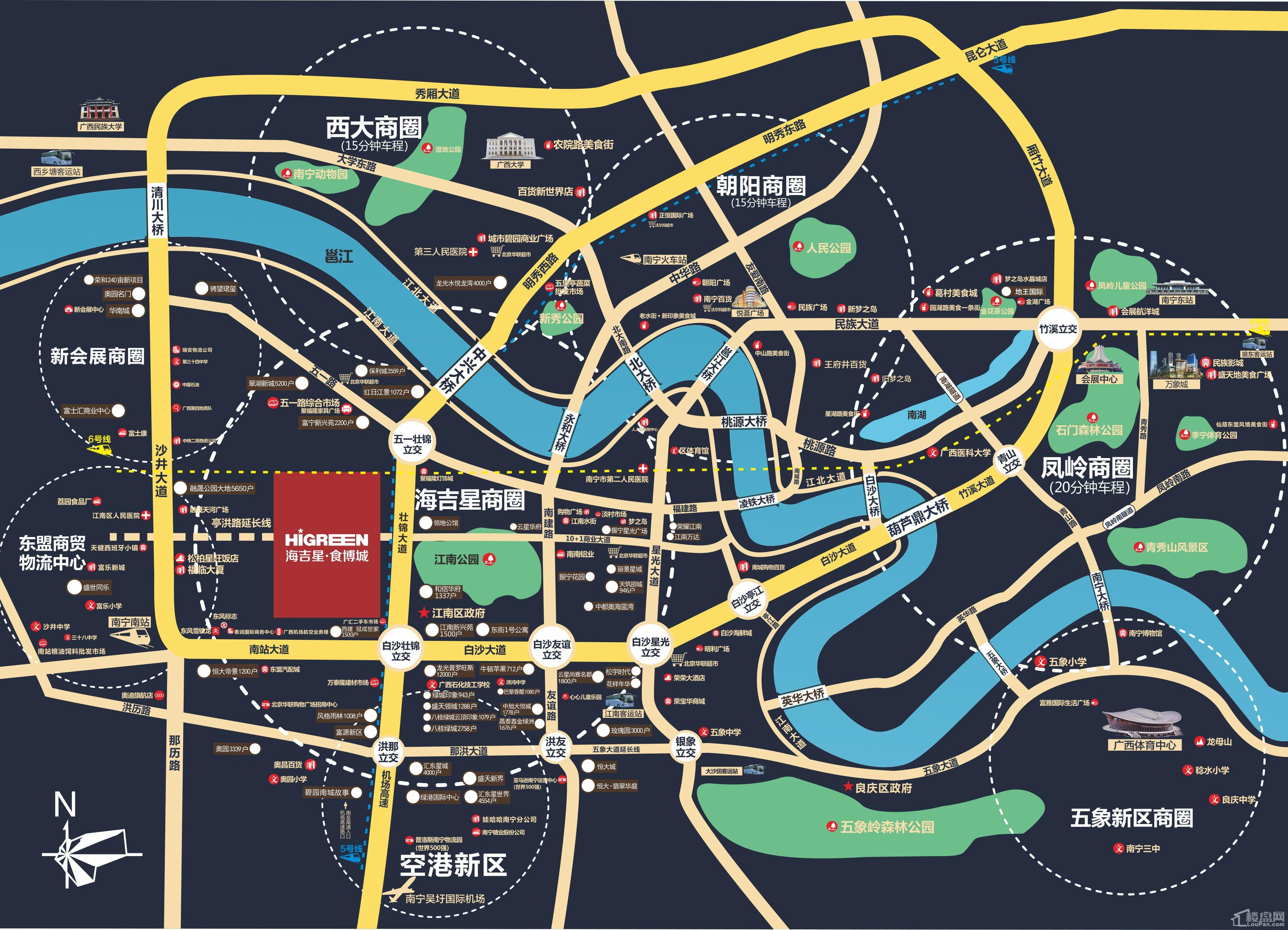 海吉星·食博城位置图