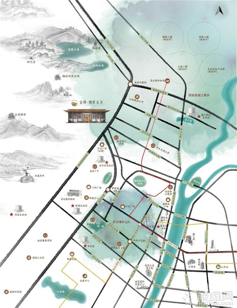 金科博翠天下位置图