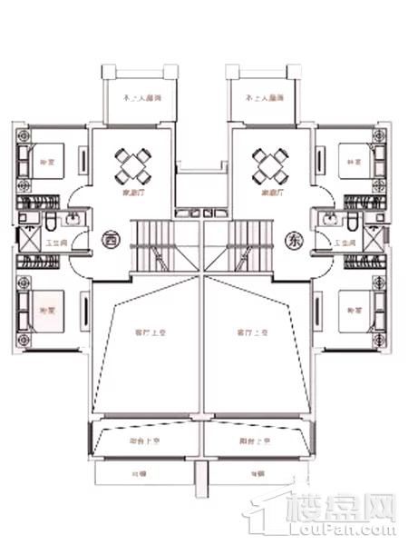 B2-6户型  双拼别墅