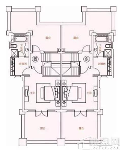 B2-1户型, 双拼别墅