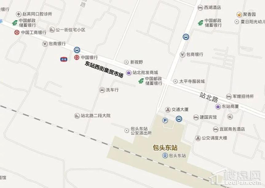 东站西街集贸市场位置图