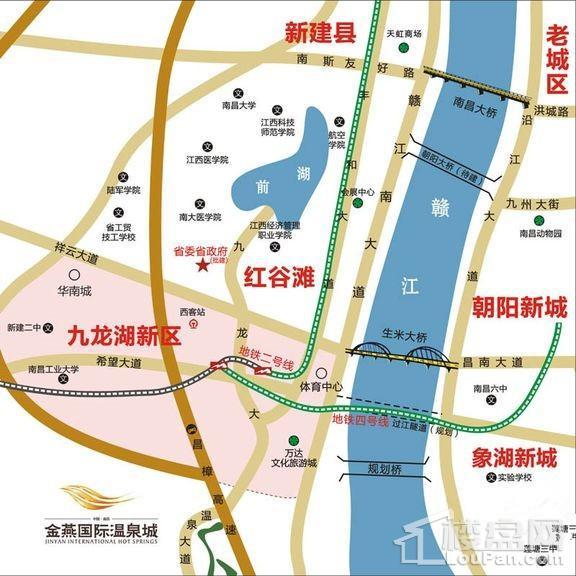 金燕国际温泉城位置图