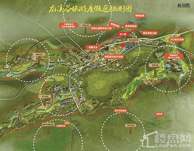 龙门镇文化旅游项目位置图