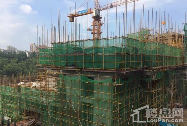 翡翠湾花园7月工程进度