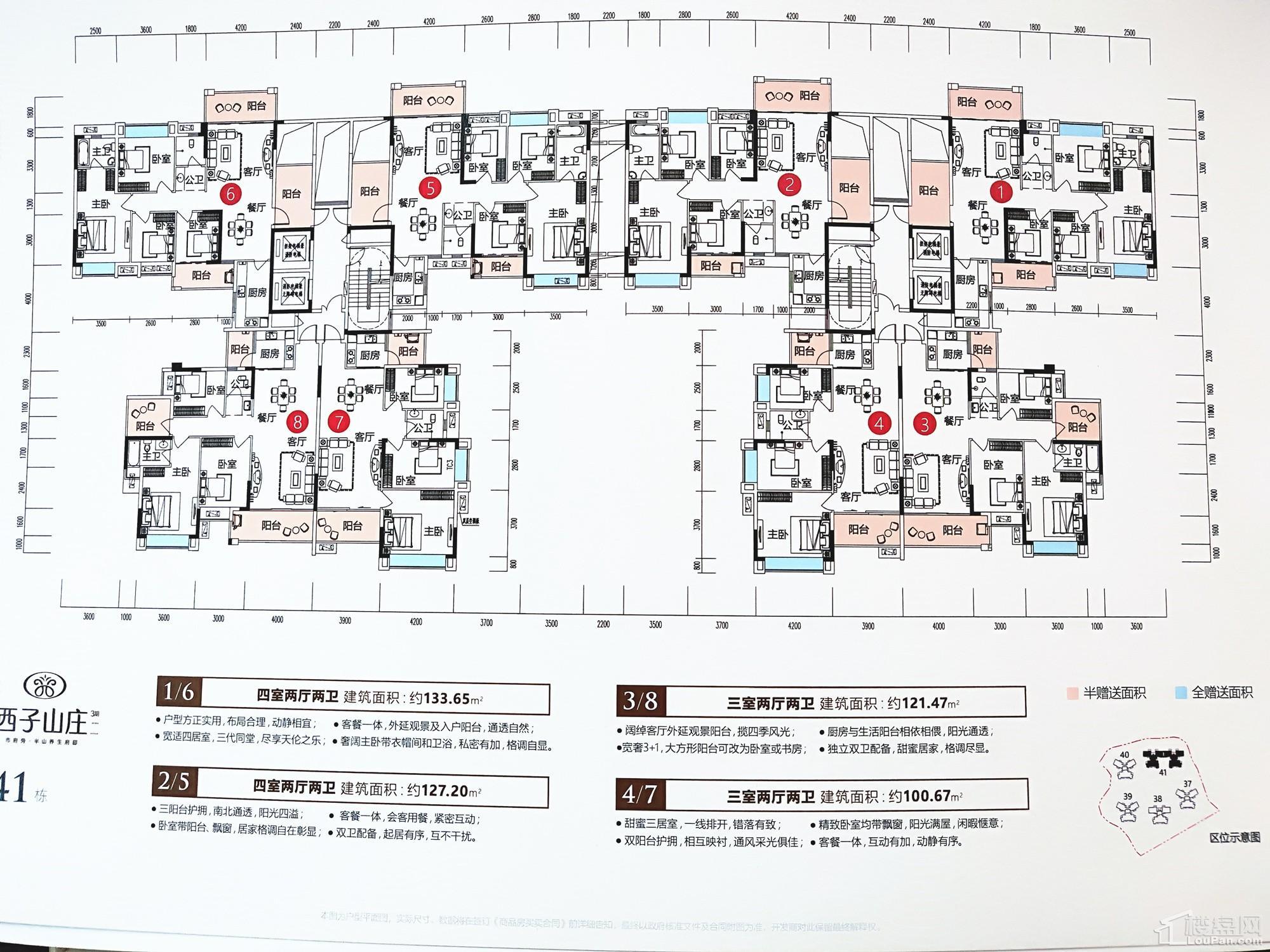 西子山庄三期41栋户型图