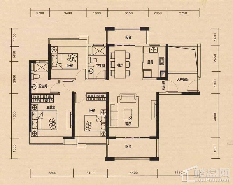 4栋标准层C户型