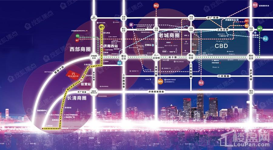 济南阳光城丽景公馆位置图