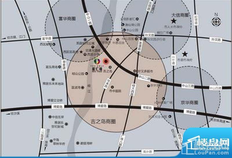 星汇湾高清区位交通图