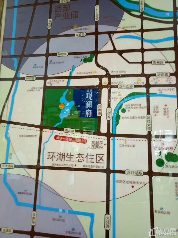 儒辰观澜府位置图