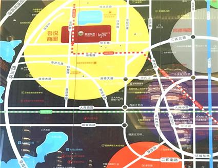 新城吾悦广场位置图