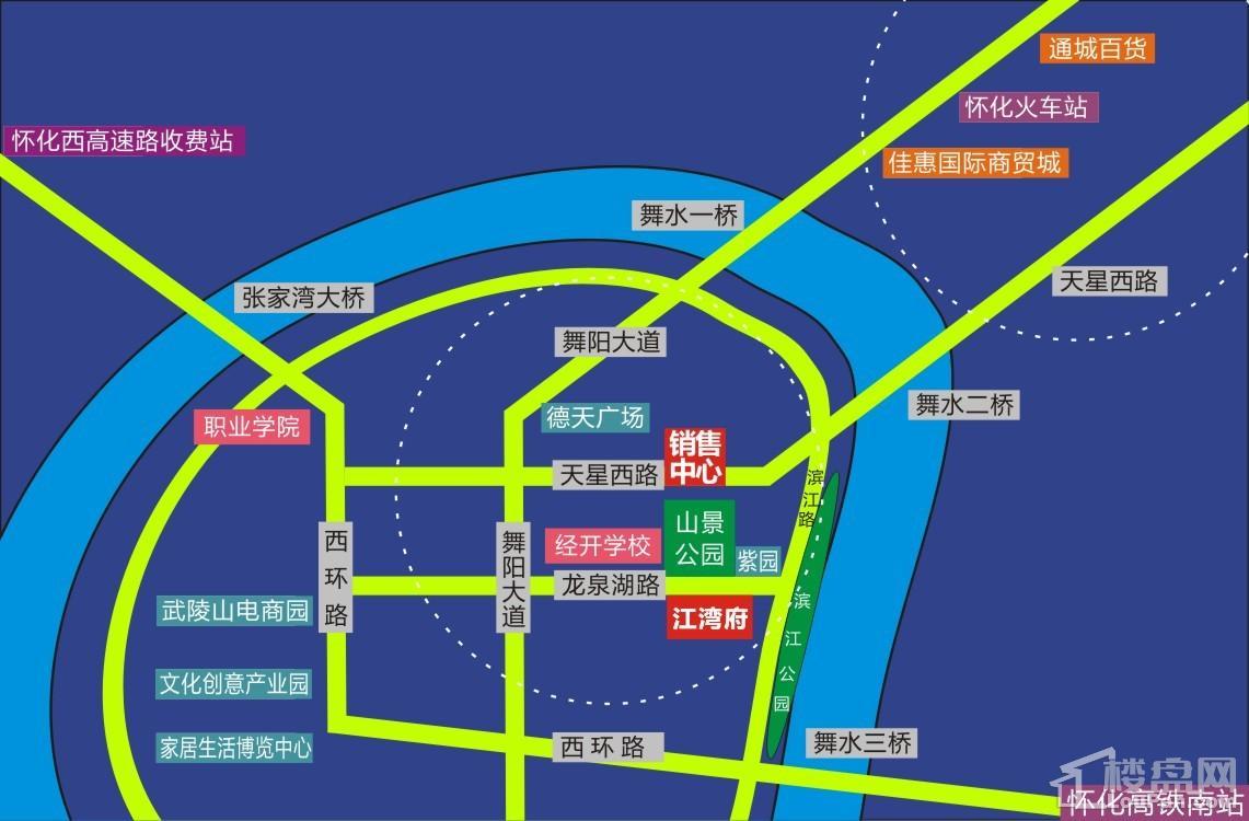 柒星江湾府区位图
