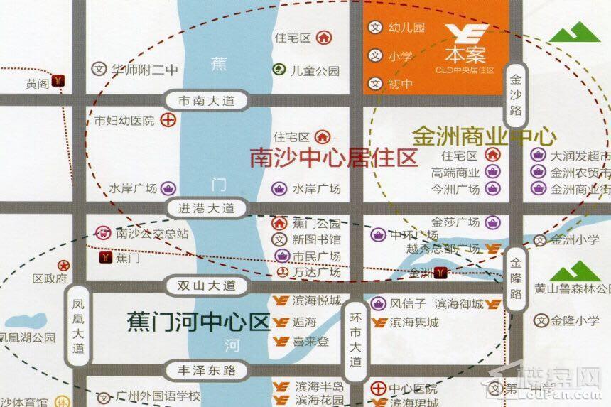 越秀滨海新城位置图