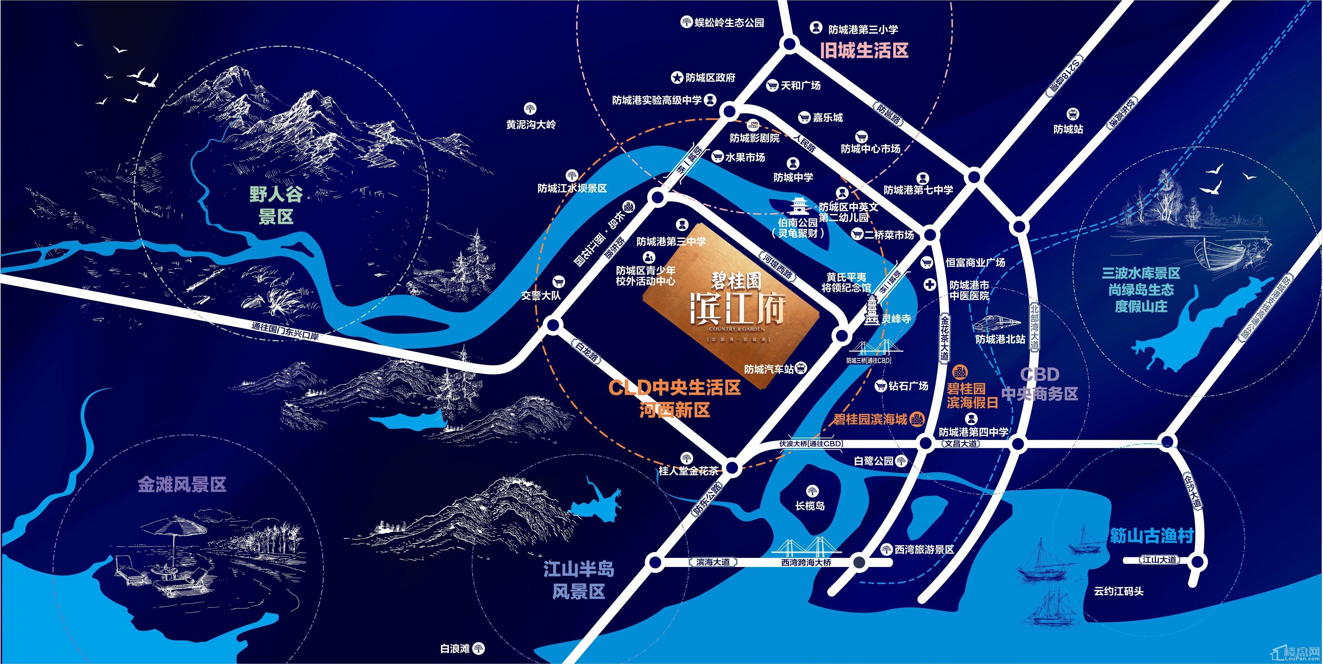 碧桂园·滨江府位置图