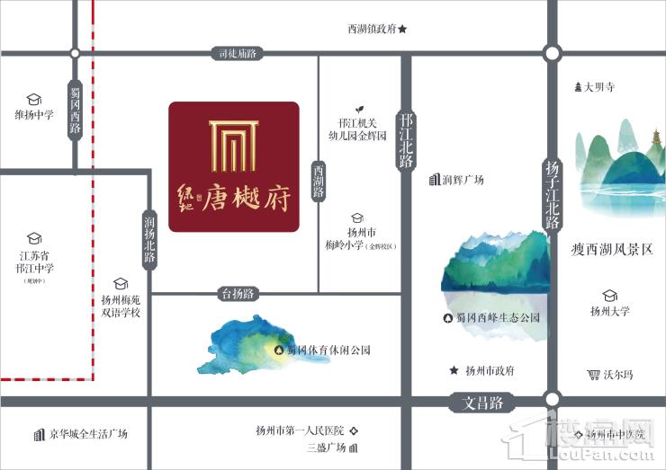 绿地唐樾府位置图