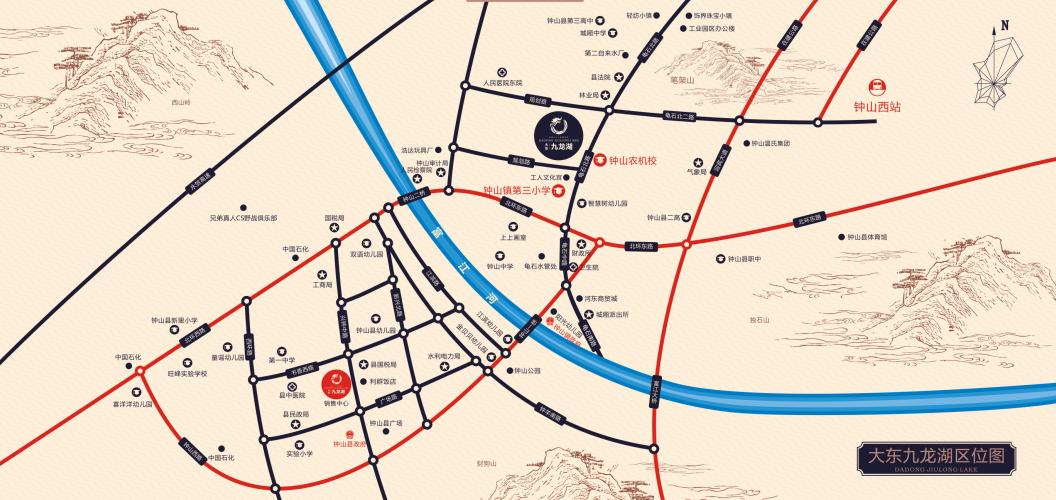 大东九龙湖位置图