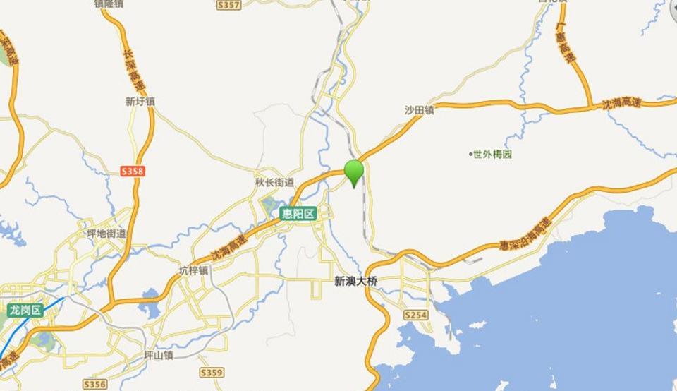 惠阳雅居乐花园位置图