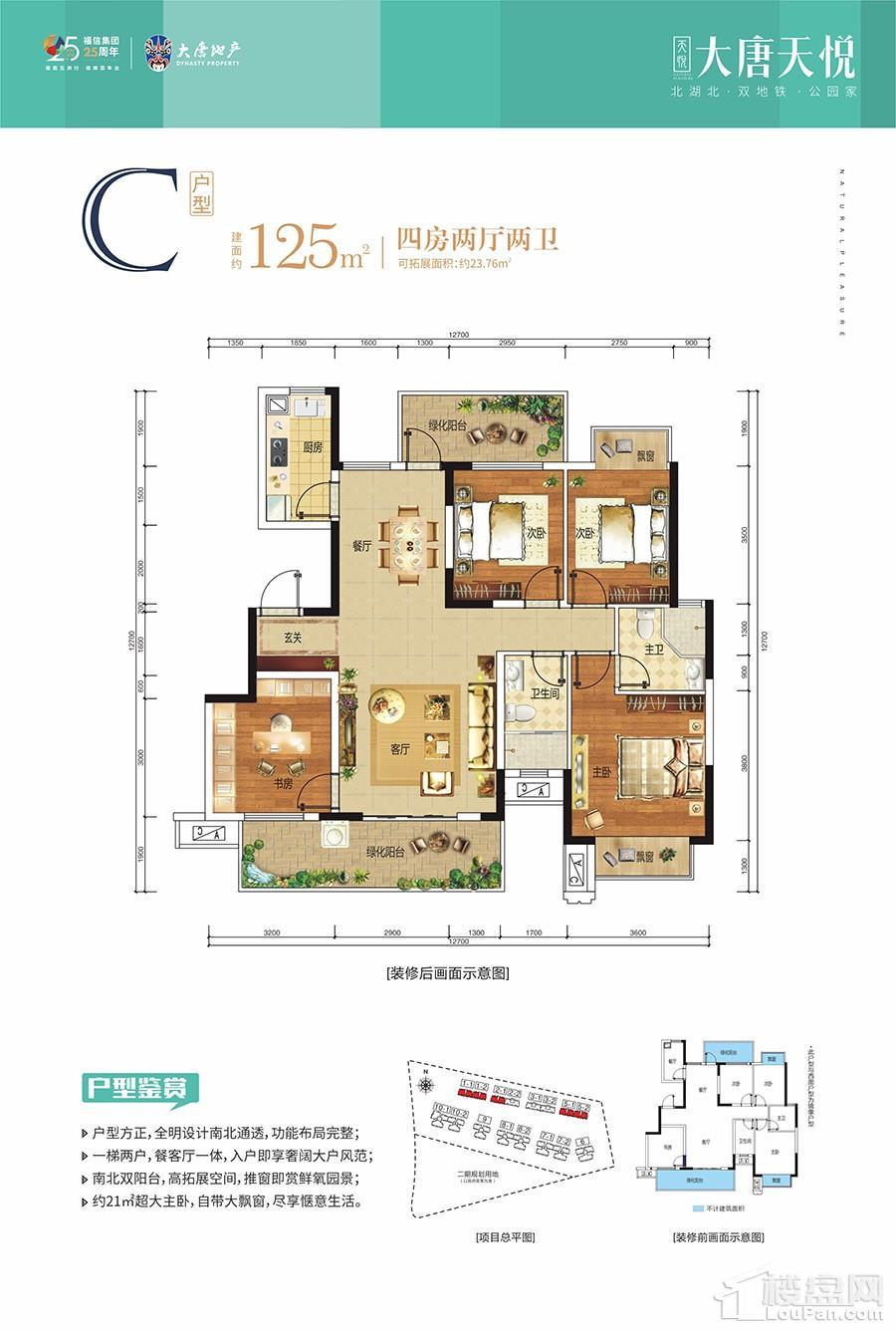 大唐天悦一期1/2/5#楼C户型