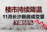 楼周刊第192期:楼市持续降温 11月长沙新房成交量下降55%
