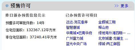 1月23日主城新出预售14件 预计4959套新货入市