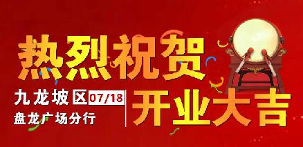 热烈祝贺盘龙广场分行盛大开业