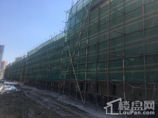 保利水韵长滩五期和墅主体楼栋施工进度