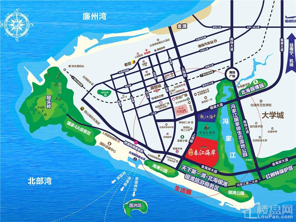 彰泰·春江海岸区位图