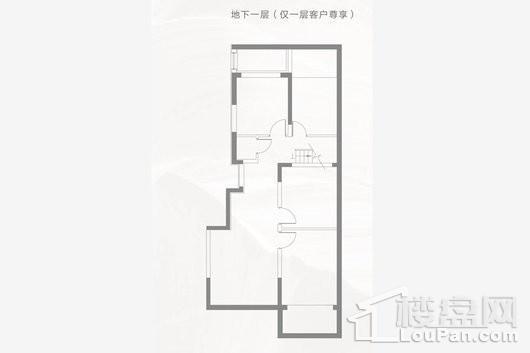 阳光城·璞悦D户型地下一层 3室2厅1卫1厨