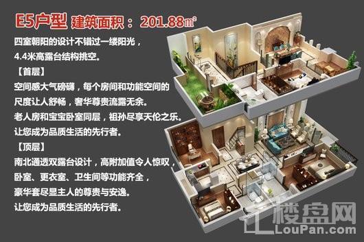 中央豪庭·柿园E5户型 4室3厅3卫1厨