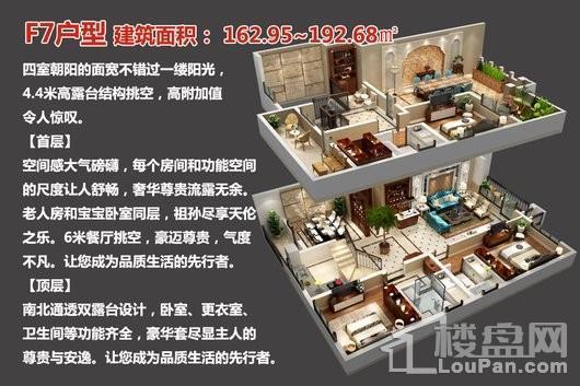 中央豪庭·柿园F7户型 3室2厅2卫1厨