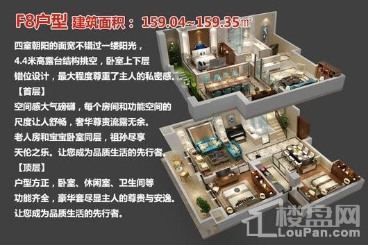 中央豪庭·柿园F8户型 3室3厅2卫1厨