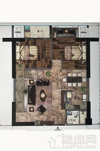 澜湖郡LOFTC户型 5室2厅3卫1厨