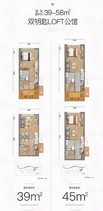 华润置地公馆39-58平米loft公馆