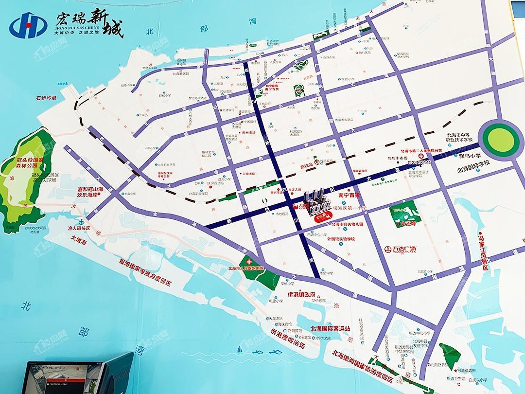 宏瑞新城位置图