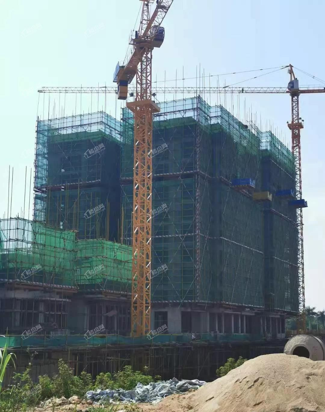 柏悦小镇19年10月一期项目施工进度