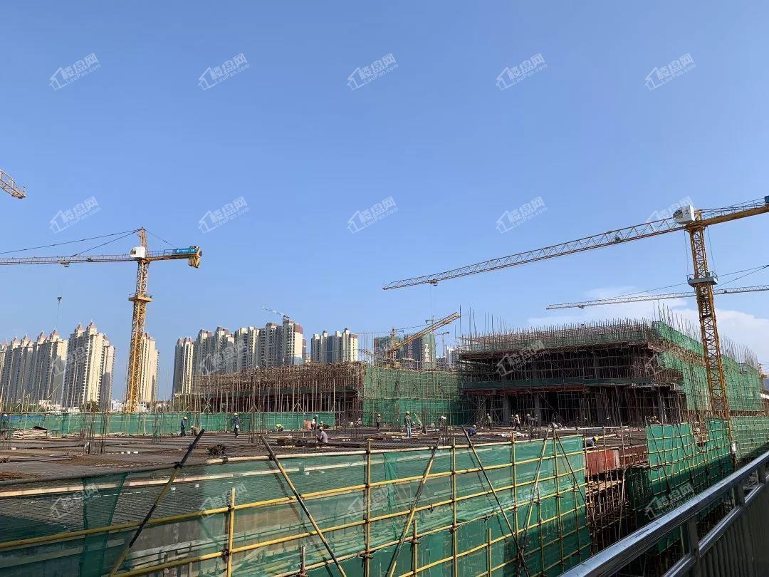 北海吾悦广场10月工程S1地块大商业施工进度