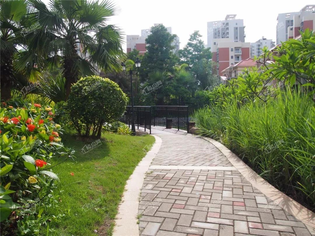 银滩万泉城二区园林实景