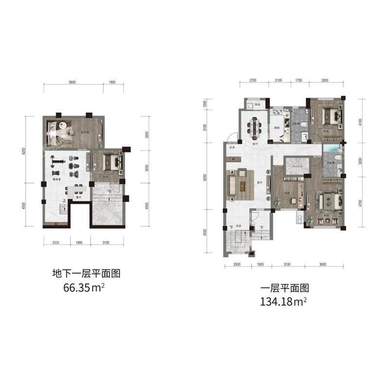 汇置尚樾洋房一层134平三室两厅两卫