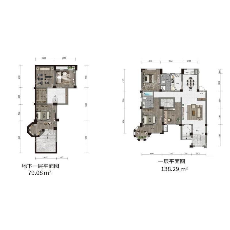 汇置尚樾洋房一层138平三室两厅两卫