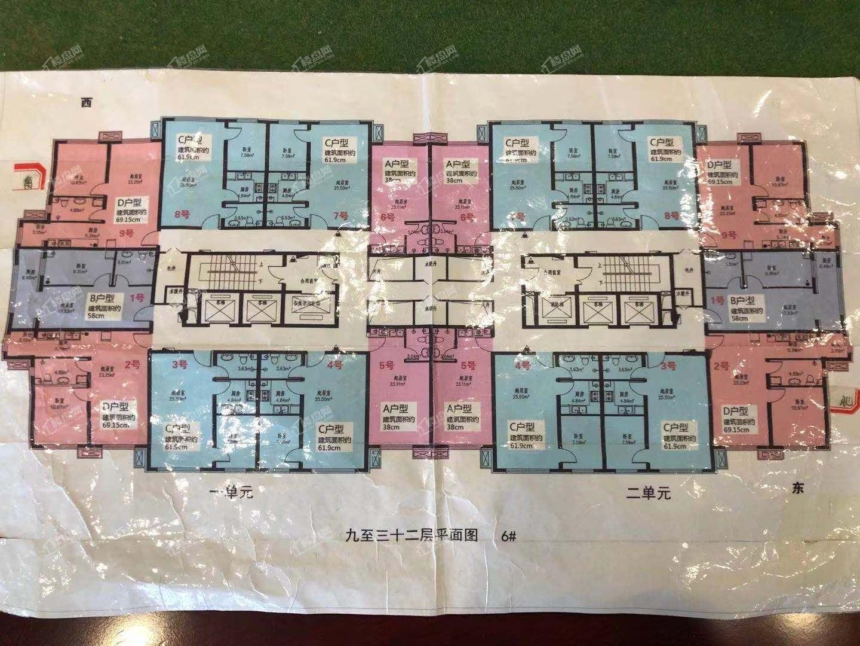 6号楼9-32层小户型平面图