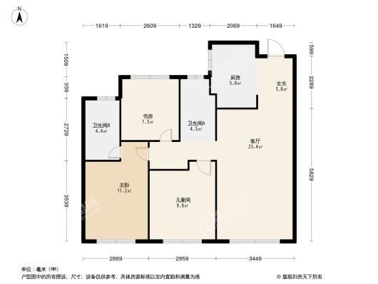 旭辉·東宸府3居室户型图