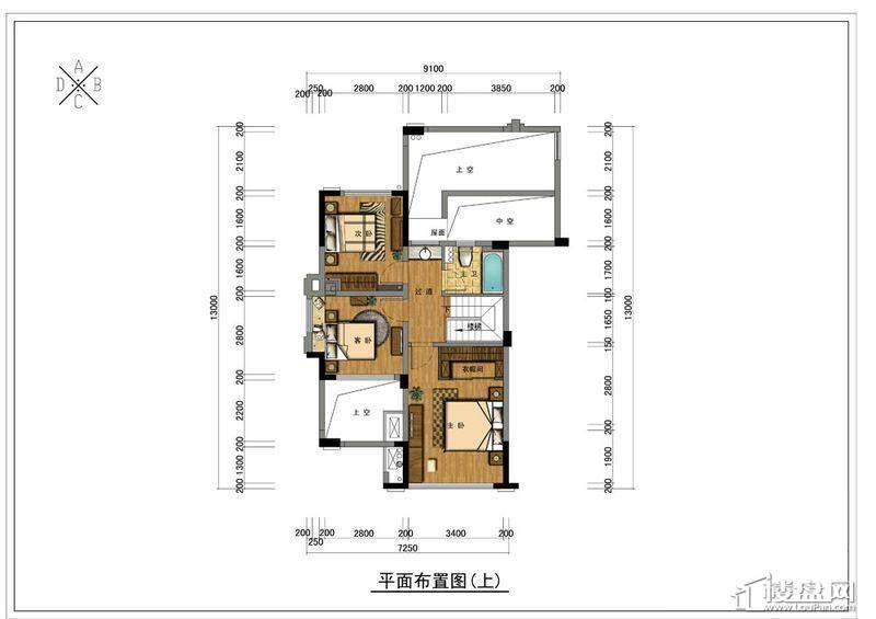 野风珑园跃层(A户型上)3室1卫