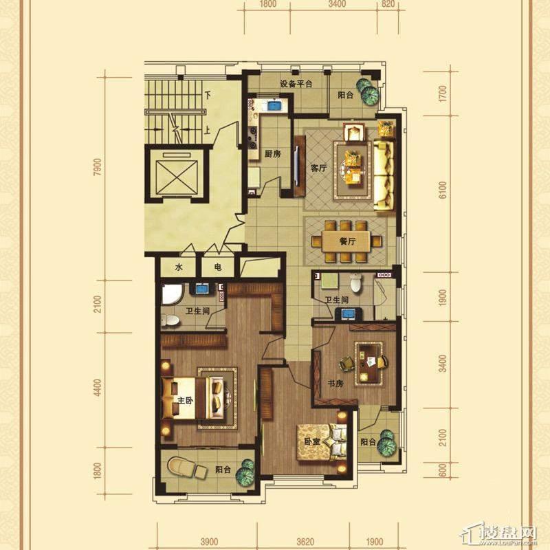 文溪鼎园B-1户型3室2厅2卫1厨