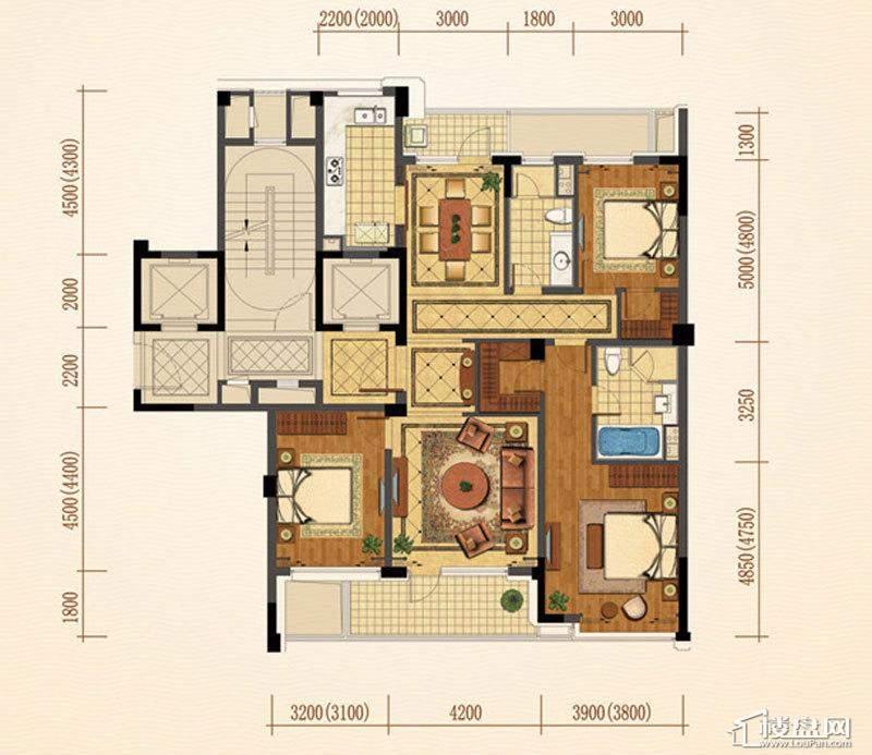 绿城西子·紫兰公寓户型图