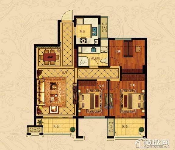 中国铁建国际城B-2(奇数层)3室2厅1卫1厨 88.00㎡