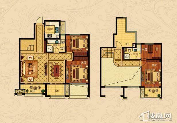 中国铁建国际城B-2(跃层)4室2厅2卫1厨 135.00㎡
