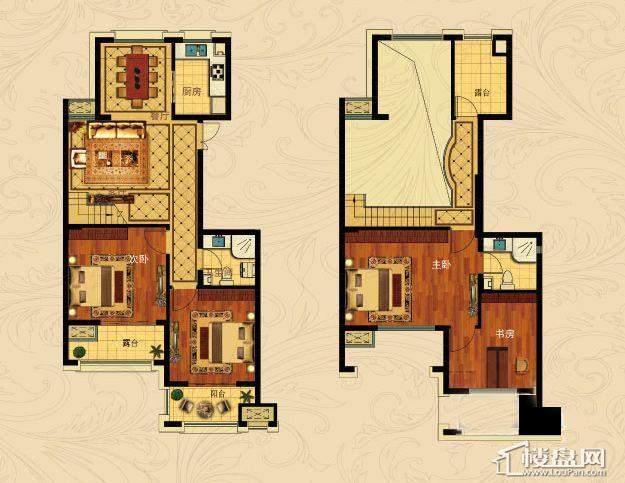 中国铁建国际城B-3(跃层)4室2厅2卫1厨 196.00㎡